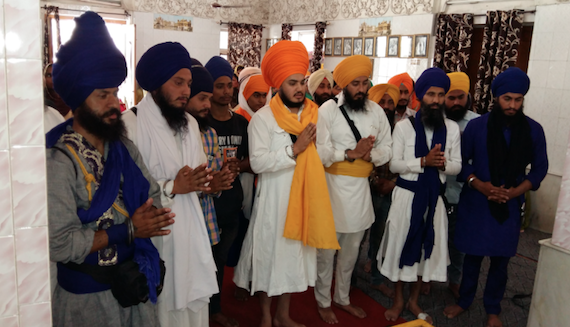 Sikh Youth Federation Bhindranwale members performing the Ardas