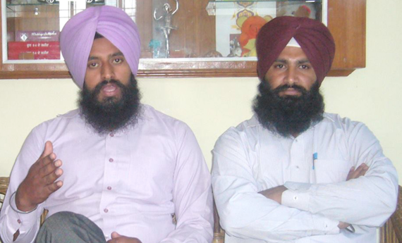 Sikh Youth of Punjab leaders Parmjeet Singh Tanda (L) informing media about the seminar