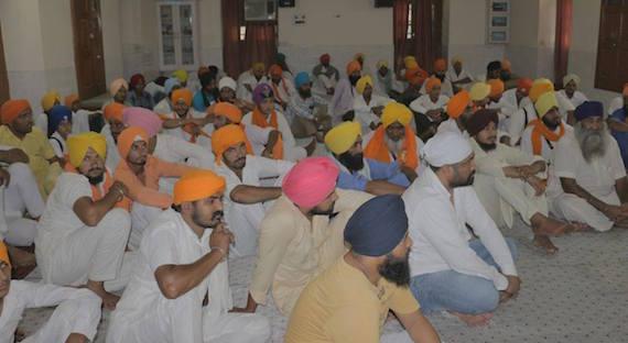 Sikh sangat at a local Gurdwara Sahib