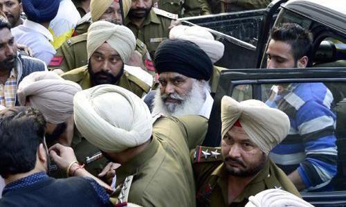Bhai Dhian Singh Mand in police custody [File Photo]