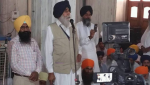 S. Simranjeet SIngh Mann addressing the SIkh Sangat at Bargari [June 01, 2016]