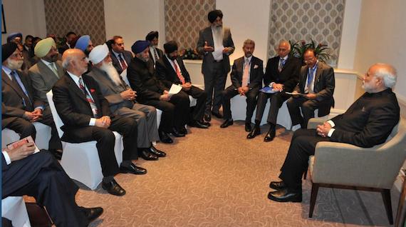 UK Sikh leaders meet Indian PM Narendra Modi [File Photo]