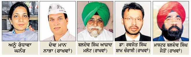 Candidates who got Aam Aadmi Party tickets (in 2nd list) for Punjab Polls 2017   Image Credit:  Rozana Ajit