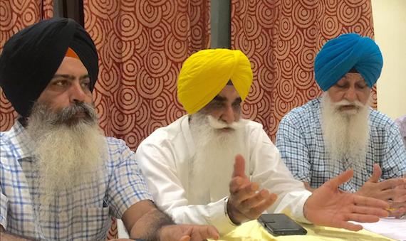 L to R: Dal Khalsa leaders Kanwarpal Singh, Harpal Singh Cheema and HS Dhammi