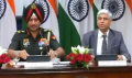 Lt General Ranbir Singh, Director General of Military Operations (DGMO) with MEA spokesperson Vikas Swarup