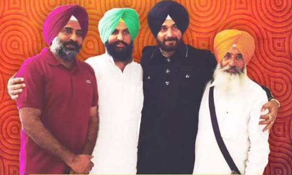 Pargat Singh, Simarjit Bains, Navjot Sidhu, Balwinder Bains [L to R]
