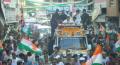 Rahul Gandhi Road Show in Sitapur