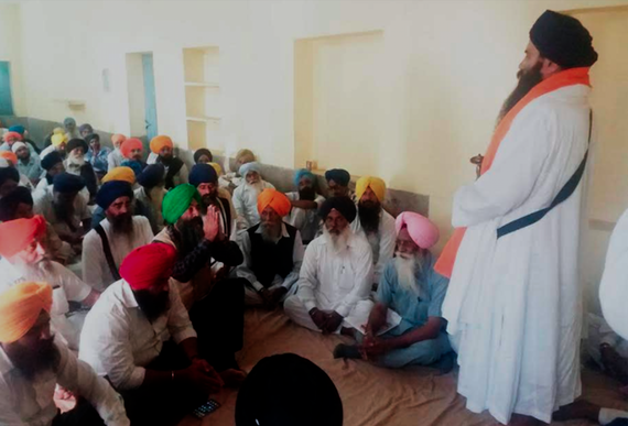 Bhai Baljeet Singh Daduwal addressing a gathering