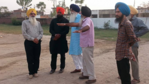 Dal Khalsa leaders at the proposed site of conference