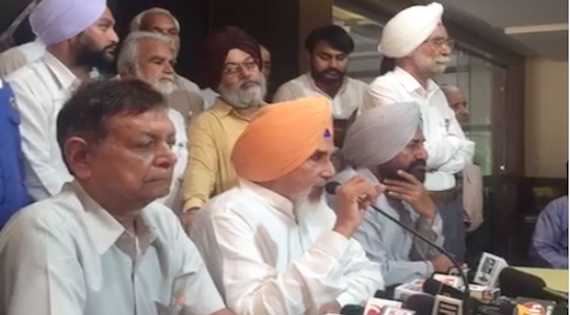 Sucha Singh Chhotepur and other addressing press conference
