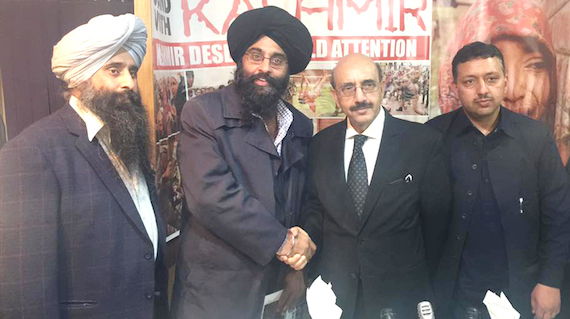 UK Sikhs meet President of Azad Kashmir