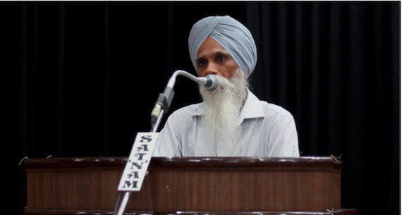 Bhai Ajmer Singh sharing his views duirng the seminar