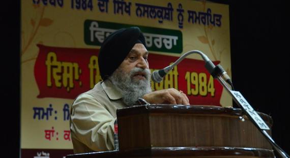 Dr. Jaspal Singh sharing his personal experiances duirng the seminar