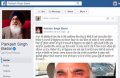 A part of screenshot from Punjab CM Parkash Singh Badal's Facebook Page shared by a lawyer on his Facebook wall