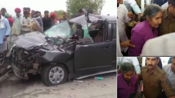 India PM Narendra Modi's wife survives fatal auto crash