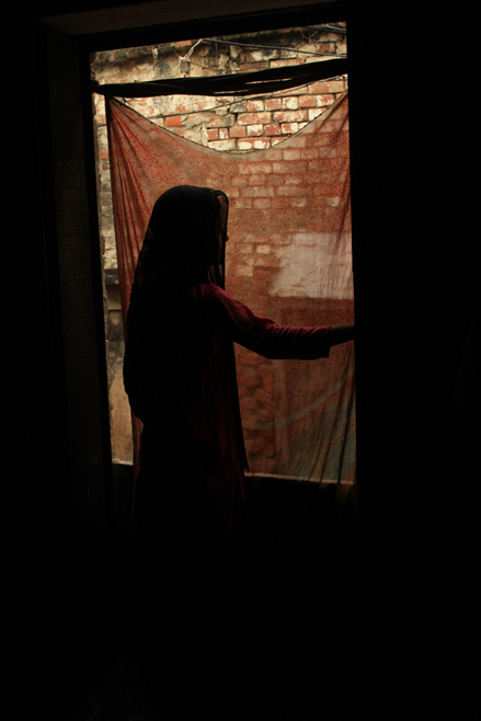 A 12-year-old girl who was allegedly raped by three men in Varanasi, India. Police did not believe her account and beat up her father.