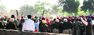 A view of Dhudike village when the clash took place between Dera followers and local Sikh Sangat