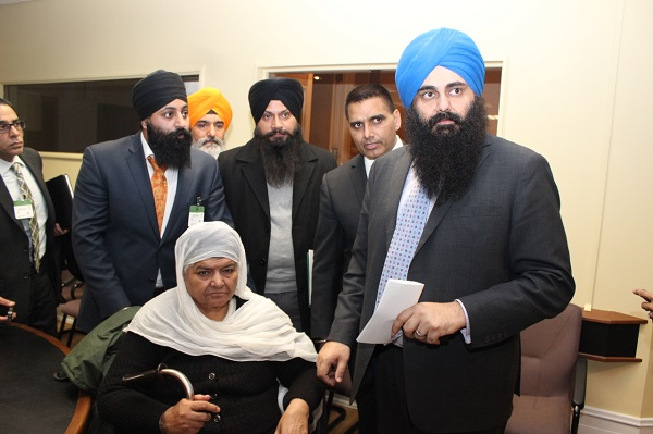 Canadian RulingParty MP's Tim Uppal - Parm Gill Bringing Bibi Jagdish Kaur To Parliament