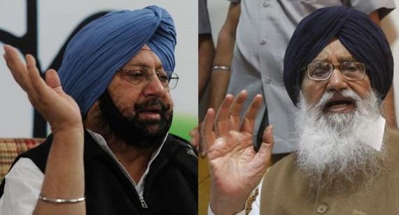 Capt Amarinder Singh (L) and Parkash Singh Badal (R) - [File Photo]