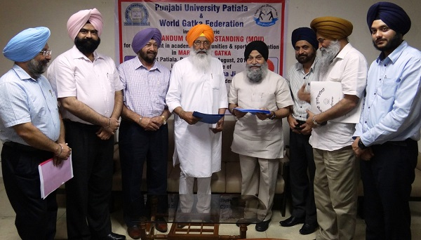Punjabi University and World Gatka Federation inks MOU for advancement in academic opportunities and sports cooperation