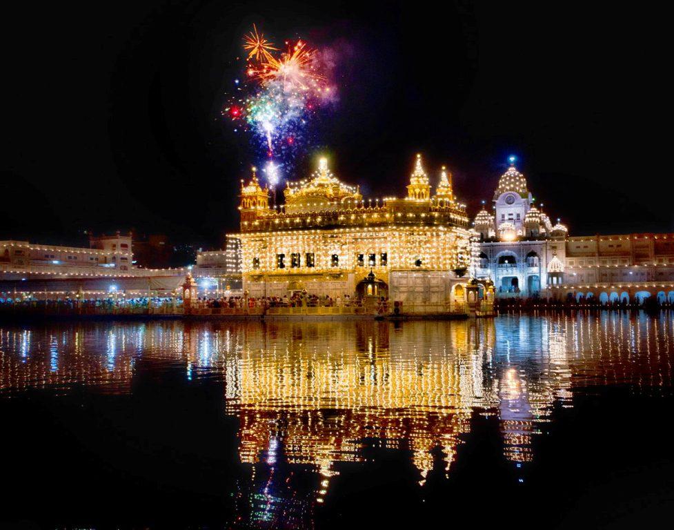 Darbar Sahib Amritsar - fireworks show