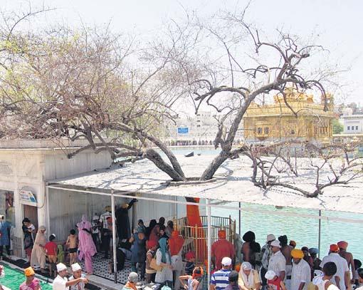 A view of Dukh Bhanjani Beri at Darbar Sahib (Amritsar)