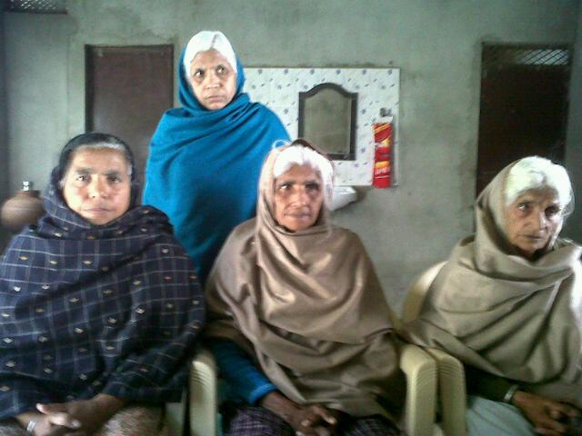 Geevni Bai, Isri Bai, Amrit Kaur & Shanti Devi - Surviving Victims of Haily Mandi Massacre