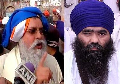 Giani Iqbal Singh (L) - Baba Harnam Singh Dhumma (R)