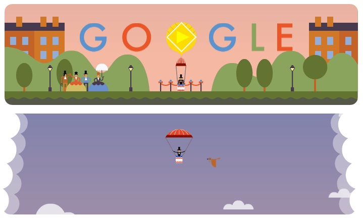Two screen shots of Google Doodle [October 22, 2013]