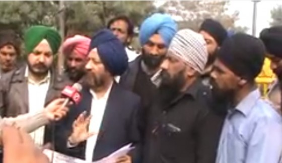 Gurcharan Singh Babbar giving information addressing the media [February 20, 2014]
