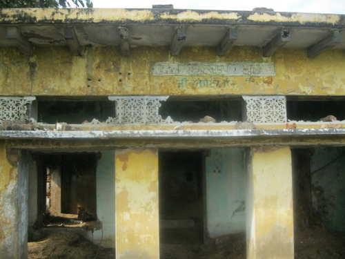 Gurudwara Sahib of VIllage Hondh, that was burnt during 1984 Sikh Genocide