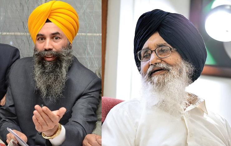 Karnail Singh Peer Mohammad (L) - Parkash Singh Badal (R) - [File Photos]
