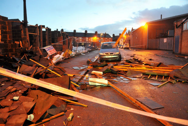 Leicester- Lightening hit Gurdwara Sahib; Roof top damaged badly, all escaped unhurt