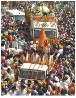 March for Gurudwara Gian Godri