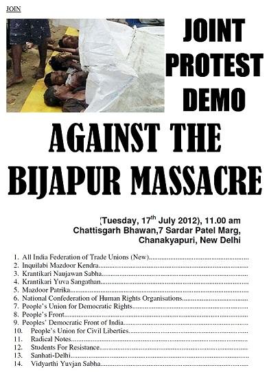 Protest Demonstration against Bijapur Massacre