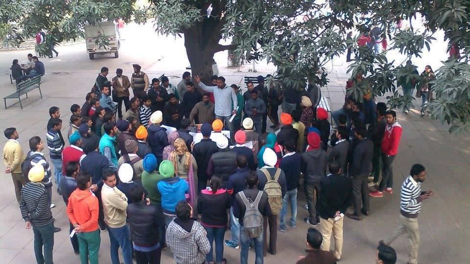 Punjab University Students demand release of Sikh political prisoners