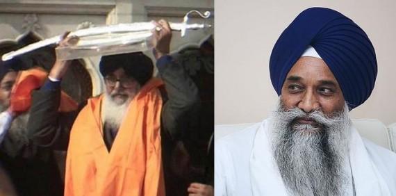 Parkash Singh Badal (R) and Giani Gurbachan Singh (L) - [File Photo]