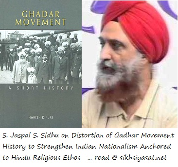 S. Jaspal S. Sidhu on Distortion of Gadhar Movement History to Strengthen Indian Nationalism Anchored to Hindu Religious Ethos