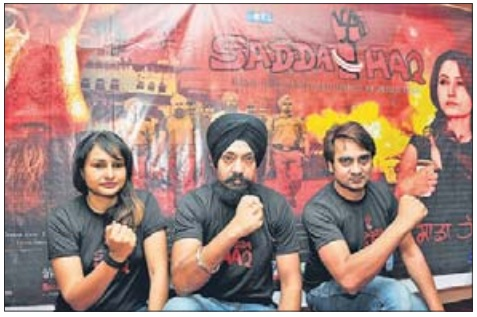 Sadda Haq team members addressed a press conference at Amritsar on May 05, 2013