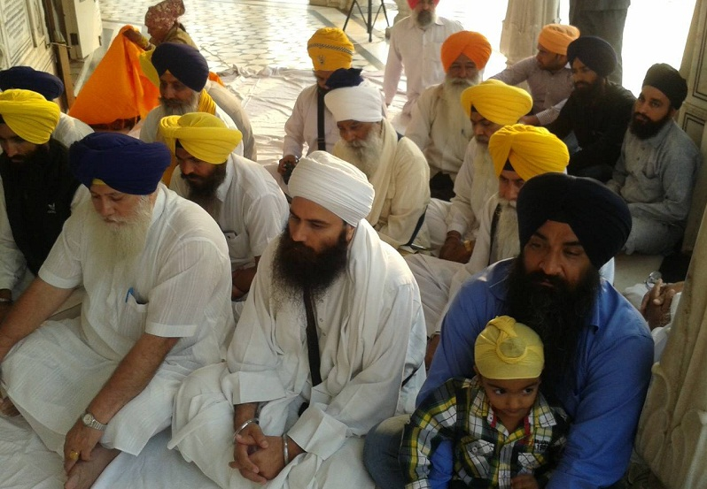 Bhai Sarbjeet Singh (son of Shaheed Beant Singh) along with his son participating in Shaheedi Samagam at Akal Takht Sahib