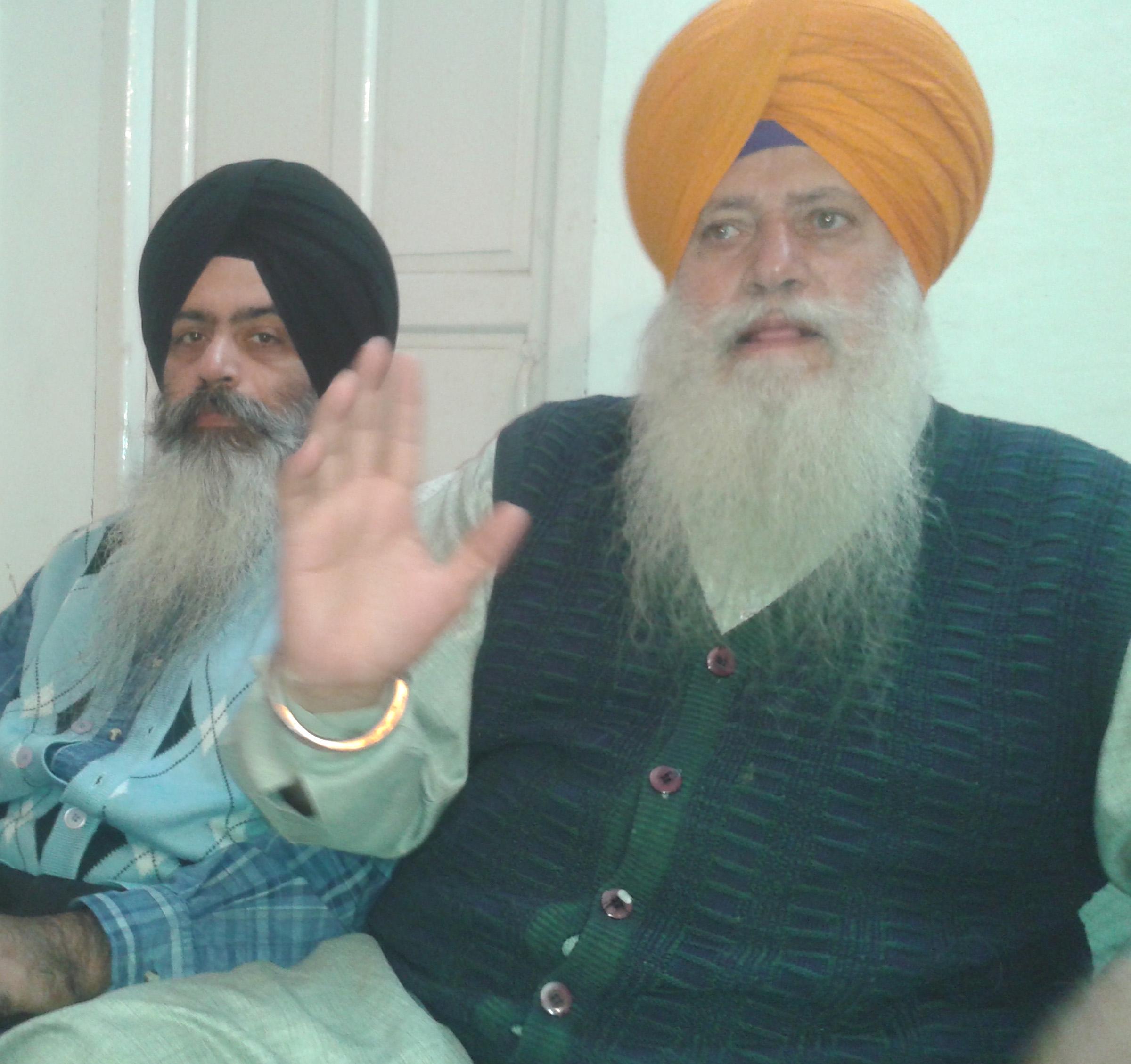 Satnam Singh Punta Sahib speaking to media persons