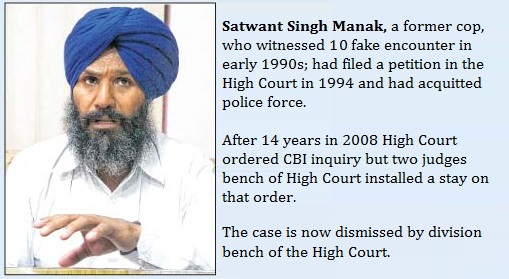 Satwant Singh Manak - a witness of Fake Encounters in Punjab