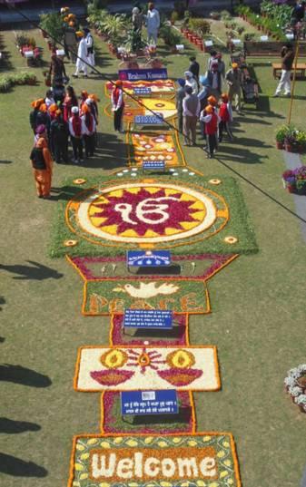Flower show at Sarabha Nagar Gurdwara in Ludhiana on Sikh Environment Day