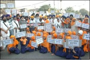 Sikh Youth Federation Bhindranwale protested on May 14, 2013 against acquittal of Sajjan Kumar at Amritsar