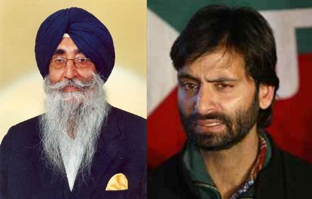 S. Mann meets JKLF leader Yasin Malik; Pain and agony of opressed nations is same: says Malik