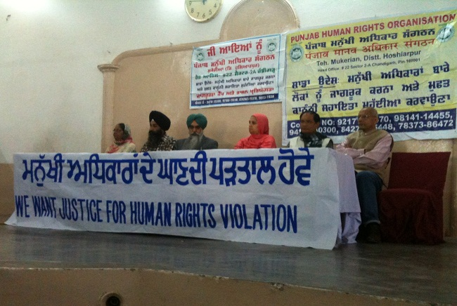 From Left to Right: Bibi Paramjeet Kaur Khalra, Advocate Jaspal Singh Manjhpur, Advocate Navkiran Singh, Bibi Parveena Ahangar, Dr. Binayak Sen and Colon Gonsalves.