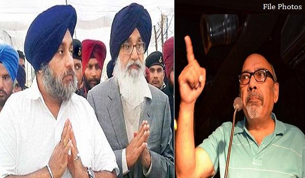 Sukhbir Badal and Parkash Badal (L) - Shashi Kant (R)