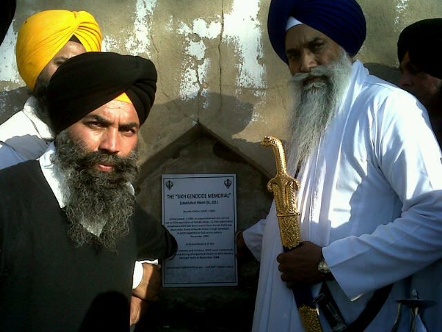 Giani Gurbachan Singh laid foundation of Sikh Genocide 1984 Memorial at Village Hondh