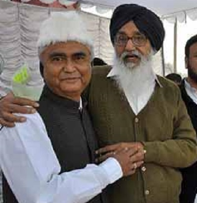 Izhar Alam (L) and Parkash Singh Badal (R)