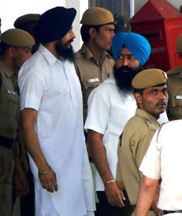 Bhai Jagtar Singh Hawara and Paramjeet Singh Bheora in police custody [File Photo]